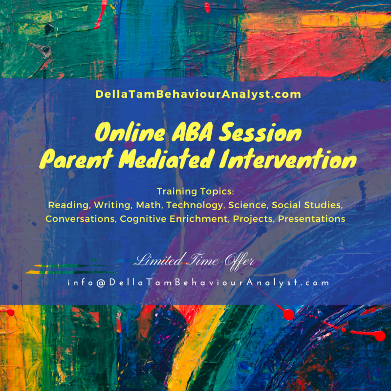 Online Parent Mediated ABA Sessions